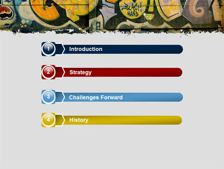 Graffiti On The Wall PowerPoint Template Slide 3