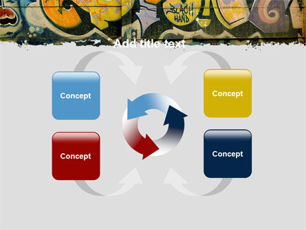 Graffiti On The Wall PowerPoint Template Slide 6