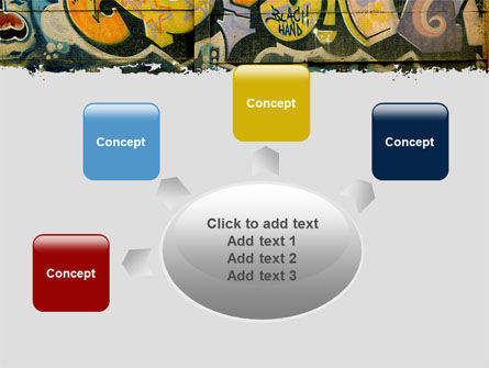 Graffiti On The Wall PowerPoint Template Slide 7