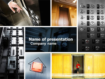 Hoist PowerPoint Template, 05309, Construction — PoweredTemplate.com