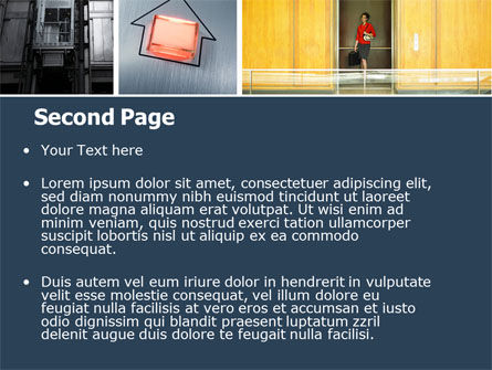 Hoist PowerPoint Template, Slide 2, 05309, Construction — PoweredTemplate.com