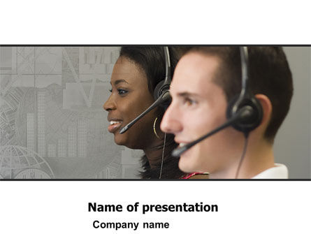 Telecoms Operator PowerPoint Template, 05311, Careers/Industry — PoweredTemplate.com