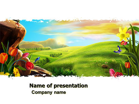 Fine Sunrise PowerPoint Template, 05312, Nature & Environment — PoweredTemplate.com