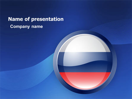 Russian Flag PowerPoint Template, 05313, Flags/International — PoweredTemplate.com