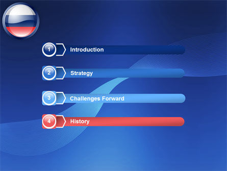 Russian Flag PowerPoint Template, Slide 3, 05313, Flags/International — PoweredTemplate.com