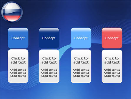 Russian Flag PowerPoint Template Slide 5
