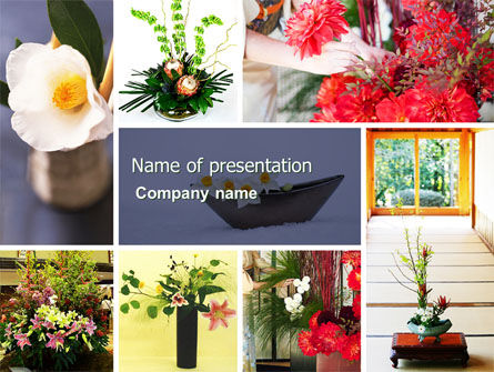 Ikebana Free PowerPoint Template, 05315, Careers/Industry — PoweredTemplate.com