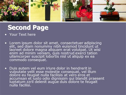 Ikebana Free PowerPoint Template Slide 2