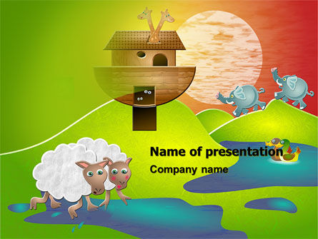 Noah's Ark Free PowerPoint Template, 05316, Education & Training — PoweredTemplate.com