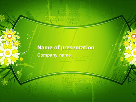 Blooming Frame PowerPoint Template