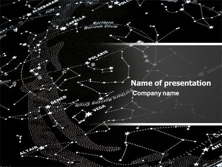 Star Map PowerPoint Template, 05321, Education & Training — PoweredTemplate.com