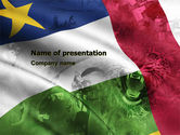 Flags/International: Central African Republic PowerPoint Template #05323