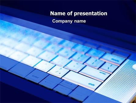 Laptop Keyboard PowerPoint Template, 05326, Computers — PoweredTemplate.com