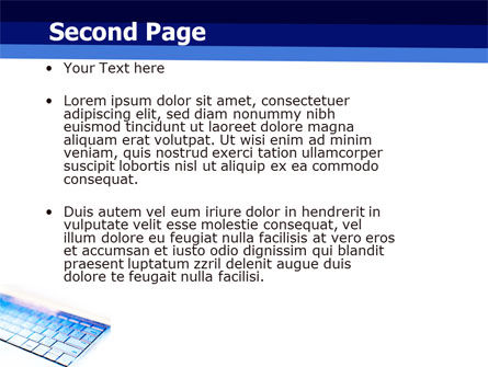 Laptop Keyboard PowerPoint Template Slide 2