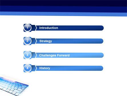 Laptop Keyboard PowerPoint Template, Slide 3, 05326, Computers — PoweredTemplate.com