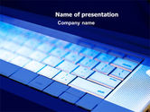 Computers: Laptop Keyboard PowerPoint Template #05326