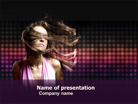 Party Girl PowerPoint Template, 05327, People — PoweredTemplate.com