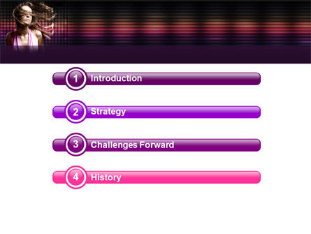 Party Girl PowerPoint Template, Slide 3, 05327, People — PoweredTemplate.com