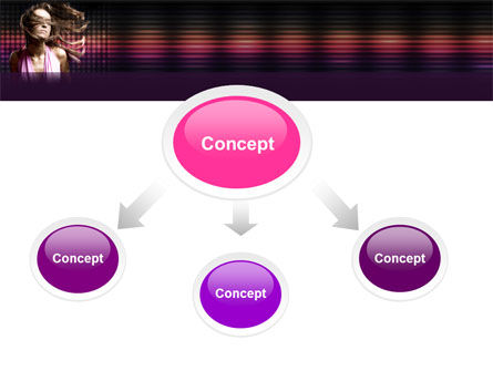 Party Girl PowerPoint Template, Slide 4, 05327, People — PoweredTemplate.com