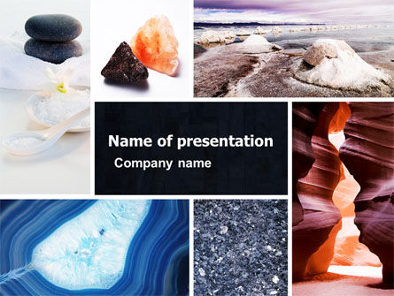 Minerals PowerPoint Template, 05330, Nature & Environment — PoweredTemplate.com