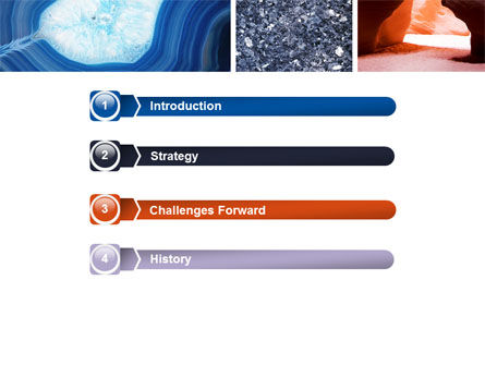 Minerals PowerPoint Template, Slide 3, 05330, Nature & Environment — PoweredTemplate.com