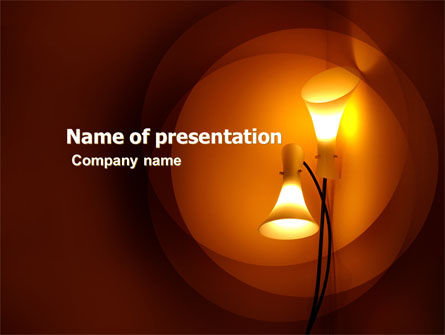 Lamps Free PowerPoint Template