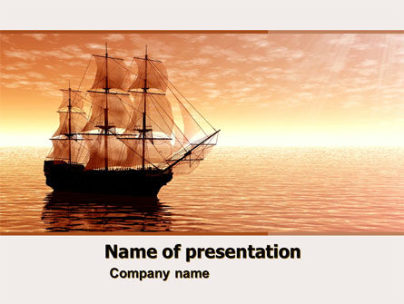 Sailing Ship PowerPoint Template, 05333, Cars and Transportation — PoweredTemplate.com