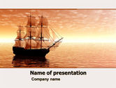Cars and Transportation: Sailing Ship PowerPoint Template #05333