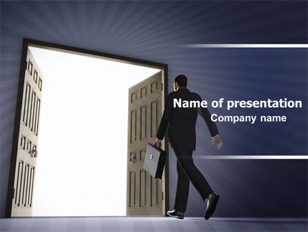 Business: Open Doors To The Light PowerPoint Template #05334