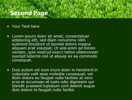Green Grass PowerPoint Template Slide 2