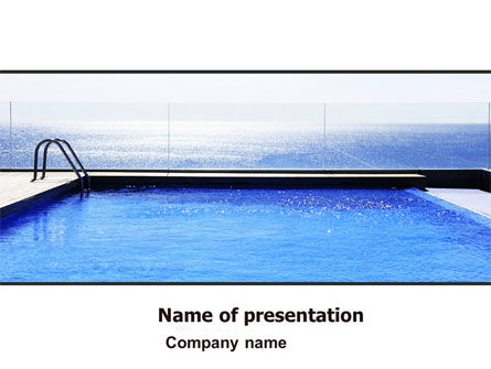 Careers/Industry: Pool On The Seashore PowerPoint Template #05337