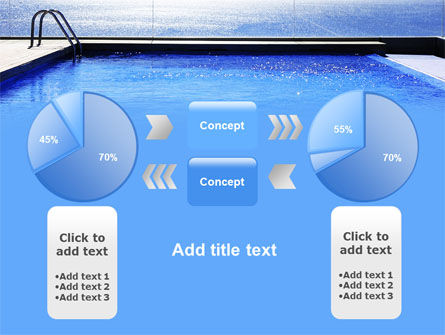 Pool On The Seashore PowerPoint Template Slide 11