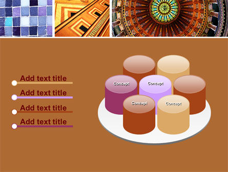 Ceramic Mosaic PowerPoint Template Slide 12