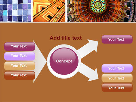 Ceramic Mosaic PowerPoint Template Slide 15