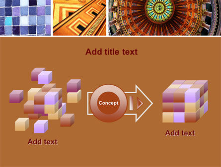 Ceramic Mosaic PowerPoint Template Slide 17