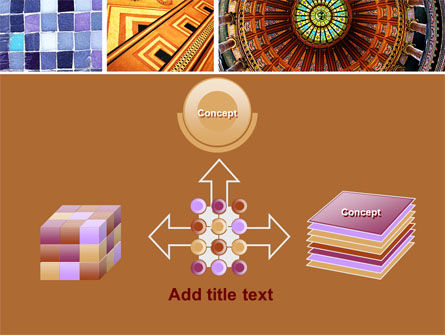 Ceramic Mosaic PowerPoint Template Slide 19