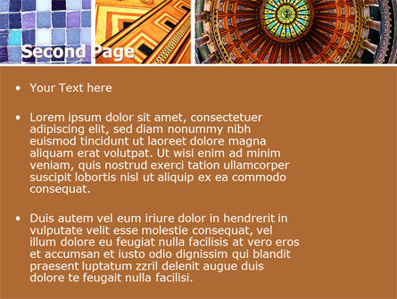 Ceramic Mosaic PowerPoint Template Slide 2