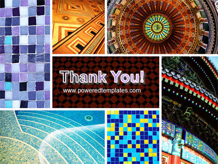 Ceramic Mosaic PowerPoint Template Slide 20