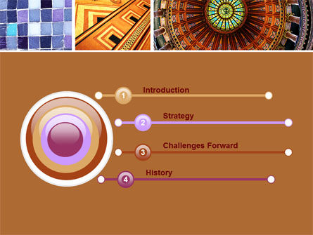 Ceramic Mosaic PowerPoint Template Slide 3