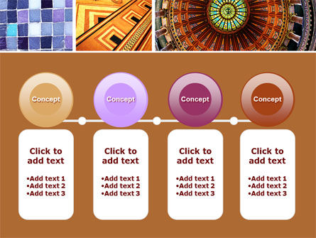 Ceramic Mosaic PowerPoint Template Slide 5