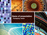 Art & Entertainment: Ceramic Mosaic PowerPoint Template #05339