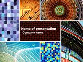 Art & Entertainment: Modèle PowerPoint de mosaïque en céramique #05339