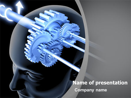 Mechanisms Of Brain PowerPoint Template, 05340, Consulting — PoweredTemplate.com