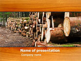 Careers/Industry: Saw Mill PowerPoint Template #05341