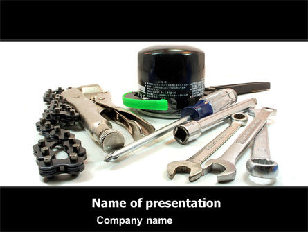 Motorcycle Tools PowerPoint Template