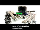 Utilities/Industrial: Motorcycle Tools PowerPoint Template #05342