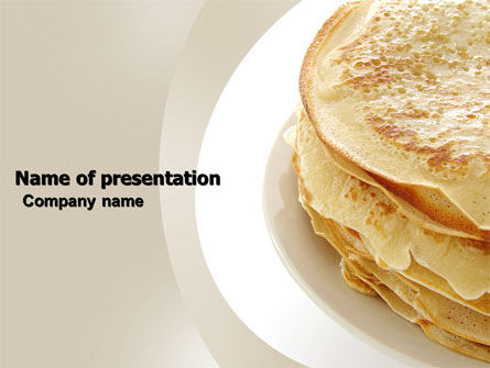 Pancakes PowerPoint Template, 05343, Food & Beverage — PoweredTemplate.com