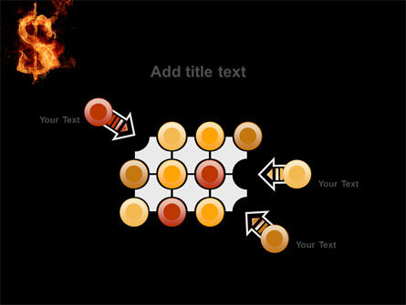 Flaming Dollar PowerPoint Template Slide 10