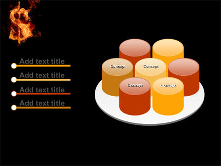 Flaming Dollar PowerPoint Template Slide 12