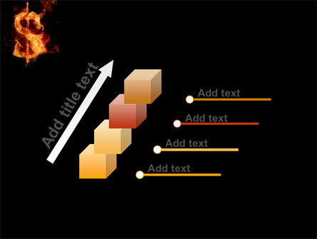 Flaming Dollar PowerPoint Template Slide 14